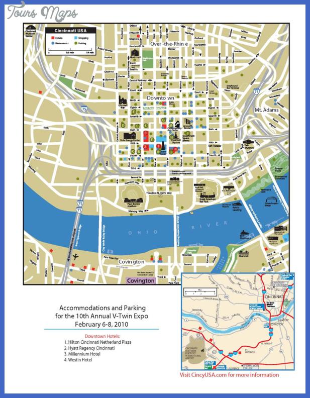 cincinnati map 2 Cincinnati Map