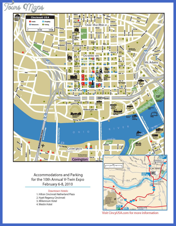 cincinnati ohio restaurant map Cincinnati Map