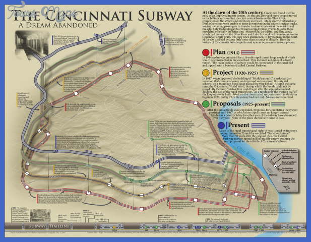 cincinnati subway map  0 Cincinnati Subway Map