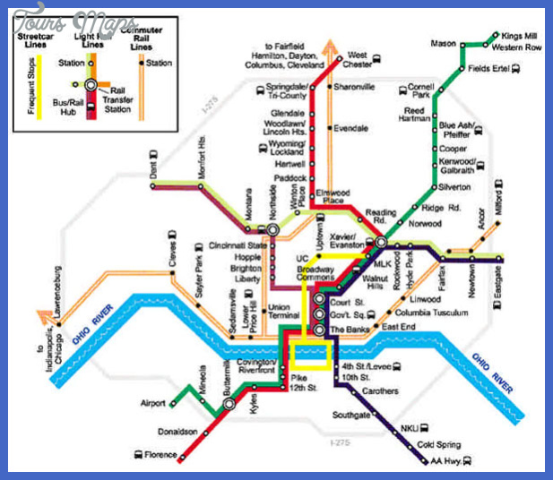 cincinnati subway map  1 Cincinnati Subway Map
