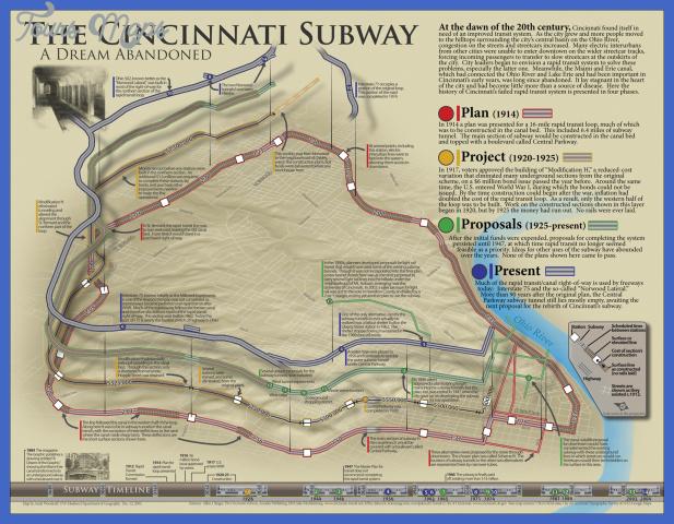 cincinnati subway map 0 Cincinnati Subway Map