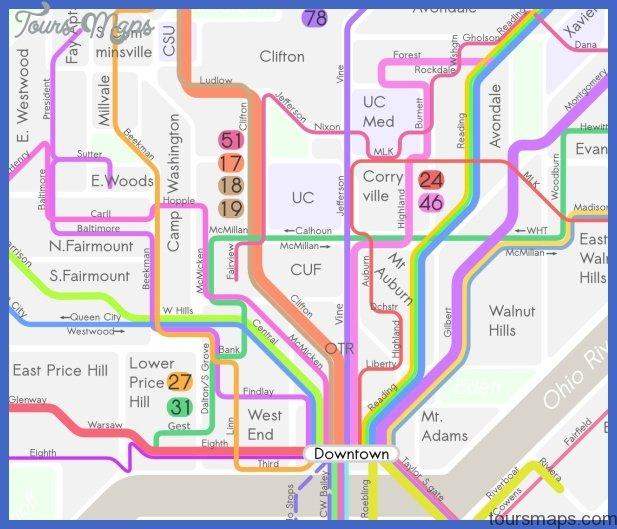 cincinnati transit map Cincinnati Subway Map