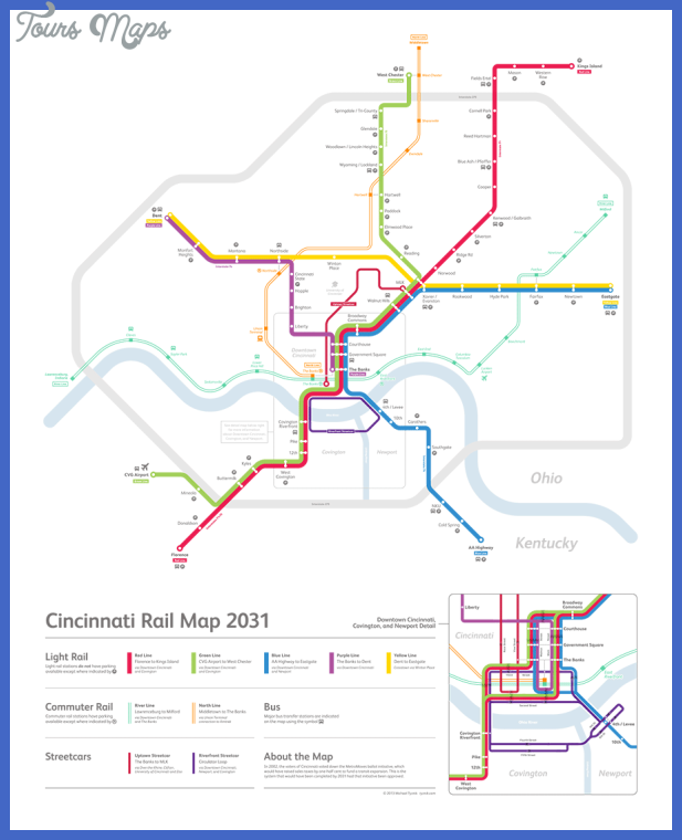 cincinnatimap Cincinnati Subway Map