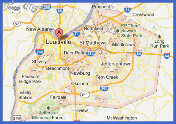 city map of louisville Loiseville Metro Map