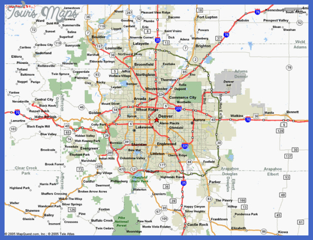 Denver Metro Map  Map  Travel  Holiday  Vacations