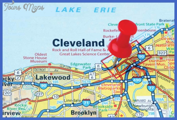 cleveland map  1 Cleveland Map
