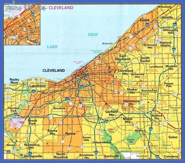 Cleveland Metro Map - ToursMaps.com