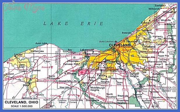 cleveland Cleveland Metro Map