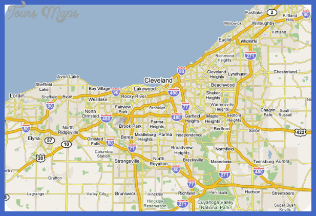 cleveland3 Cleveland Map