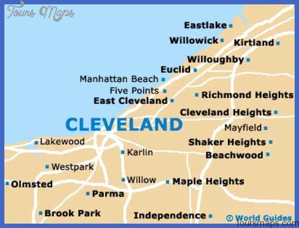cleveland map 2 Cleveland Map