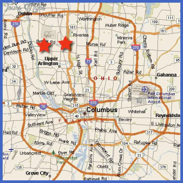 columbus ohio map Columbus Map