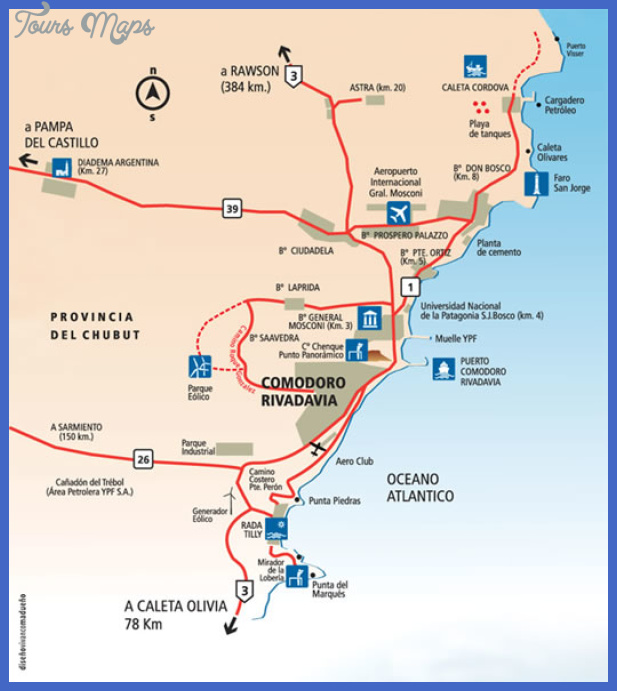 Argentina Map Tourist Attractions ToursMapsCom – Tourist Map of Argentina
