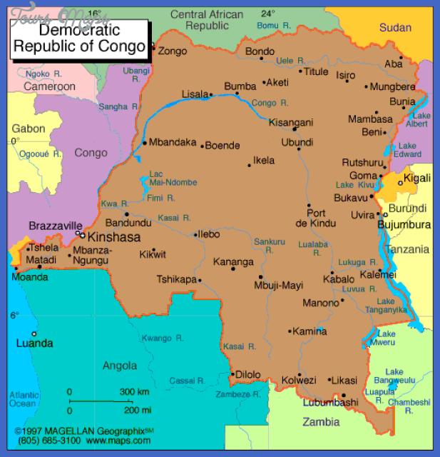 congo democratic republic metro map  1 Congo, Democratic Republic Metro Map