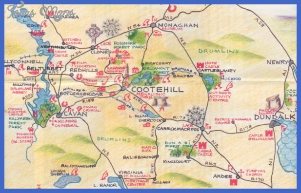 cootehillmap Riverside Map Tourist Attractions