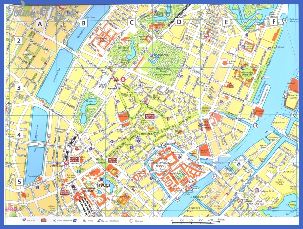 copenhagen downtown with index map 2 Copenhagen Subway Map