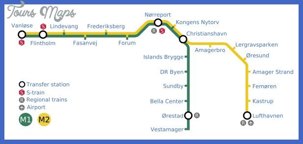 copenhagen metro map  7 Copenhagen Metro Map
