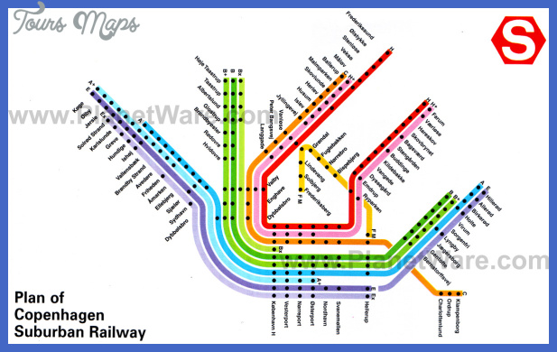 copenhagen subway map 2 Copenhagen Subway Map
