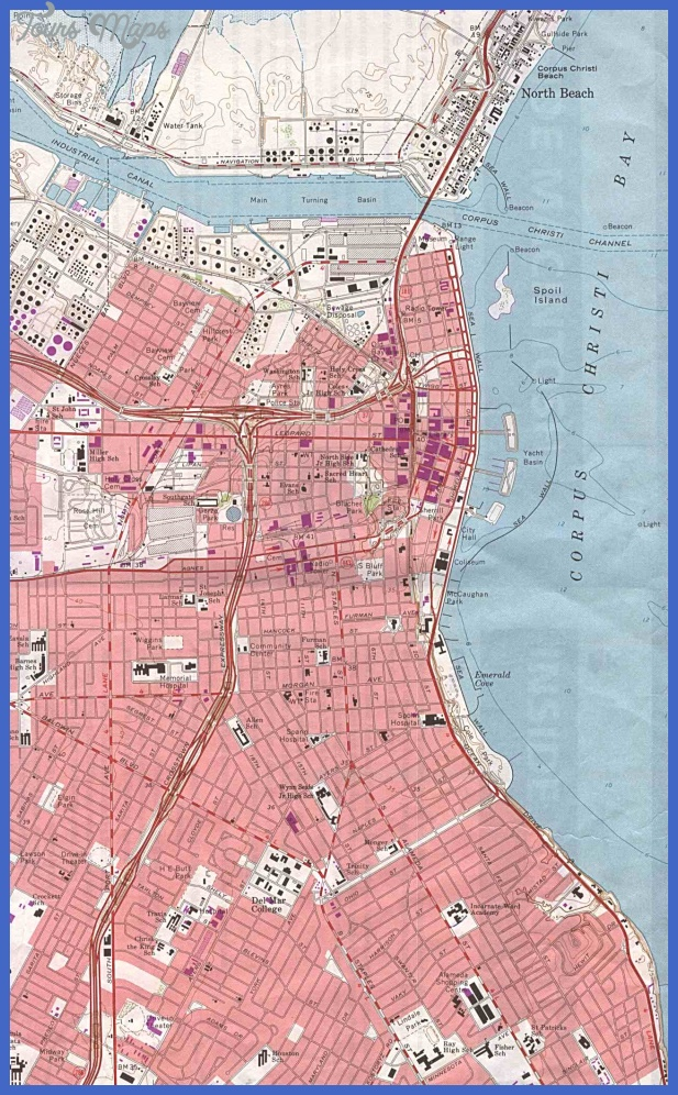 Corpus Christi Map Tourist Attractions ToursMapsCom – Corpus Christi Tourist Attractions Map