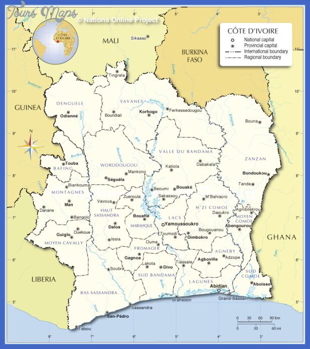 cote divoire administrative map Cote dIvoire Subway Map