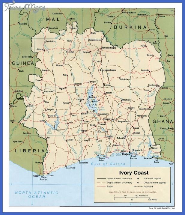 cote divoire map tourist attractions  9 Cote dIvoire Map Tourist Attractions