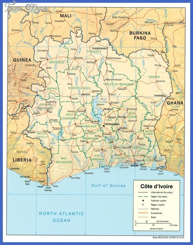 cote divoire map 1 Cote dIvoire Map