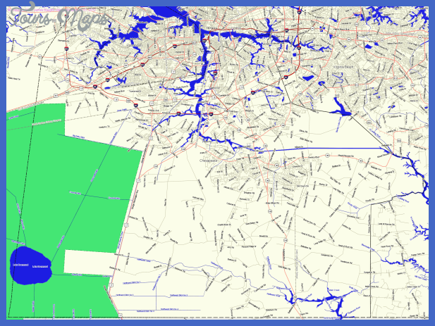 county big map Chesapeake Map