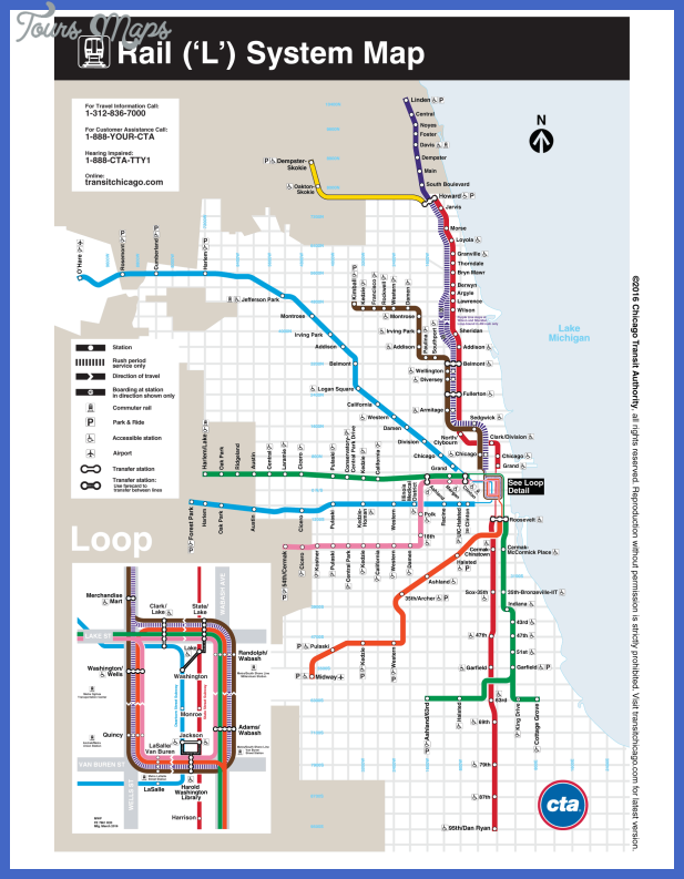 Chicago Metro Map  Map  Travel  Holiday  Vacations