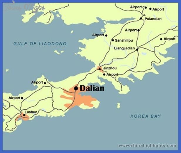 dalian location in china 1 Dalian Map Tourist Attractions