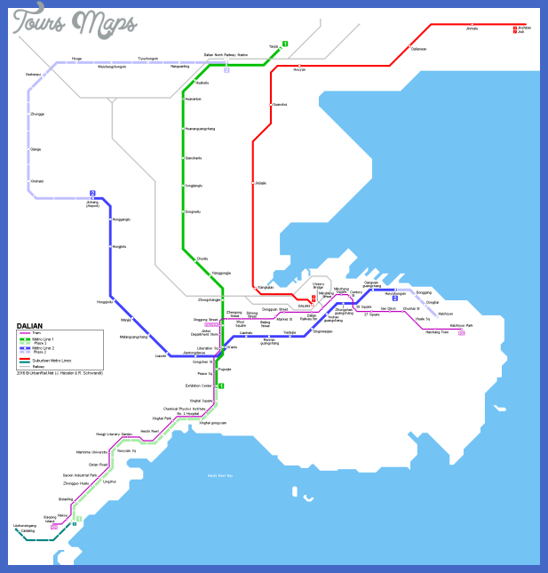 dalian metro tram map Dalian Metro Map