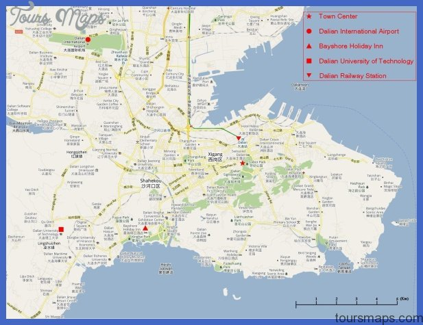 Dalian Map ToursMapscom