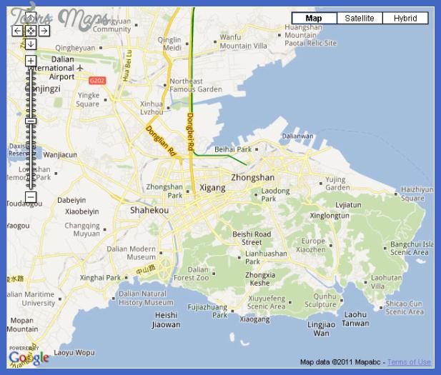 dalian new map Dalian Map Tourist Attractions