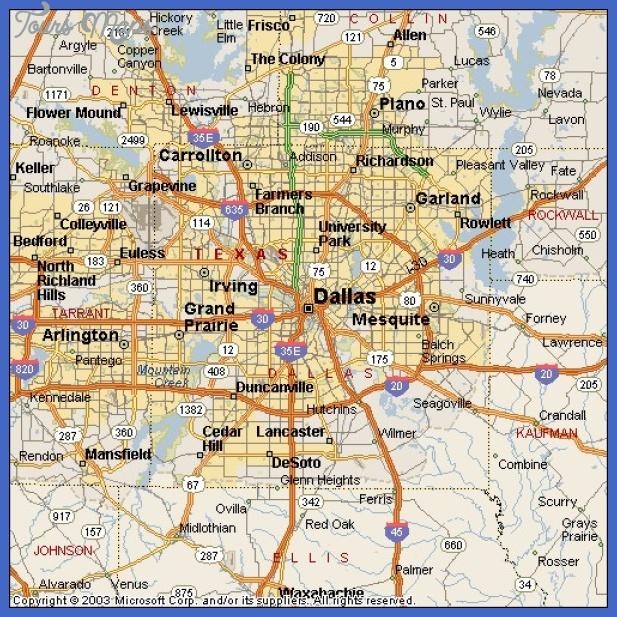 dallas map  6 Dallas Map