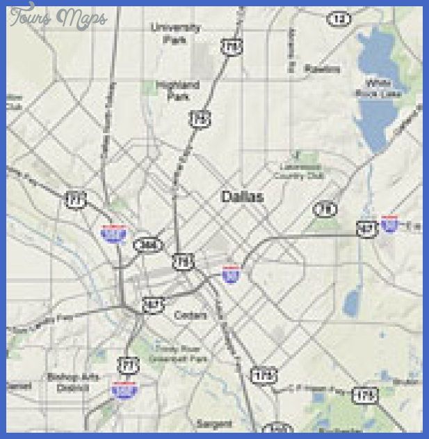 dallas map sml Dallas Fort Worth Map Tourist Attractions