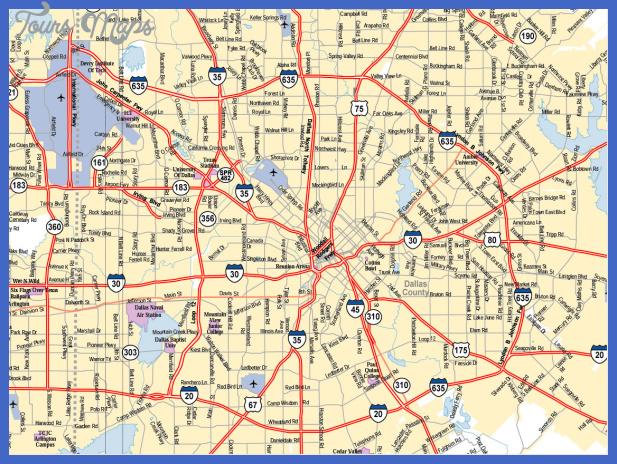 dallas texas city map Dallas Map