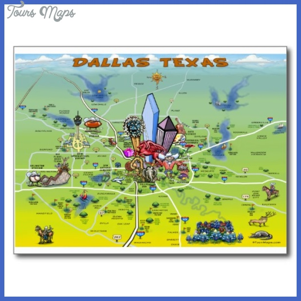 Dallas Map Tourist Attractions ToursMapsCom – Dallas Texas Tourist Attractions Map