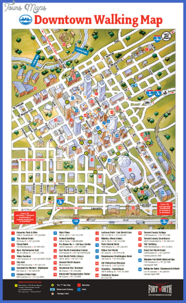 dallasfort worth map tourist attractions  7 Dallas Fort Worth Map Tourist Attractions