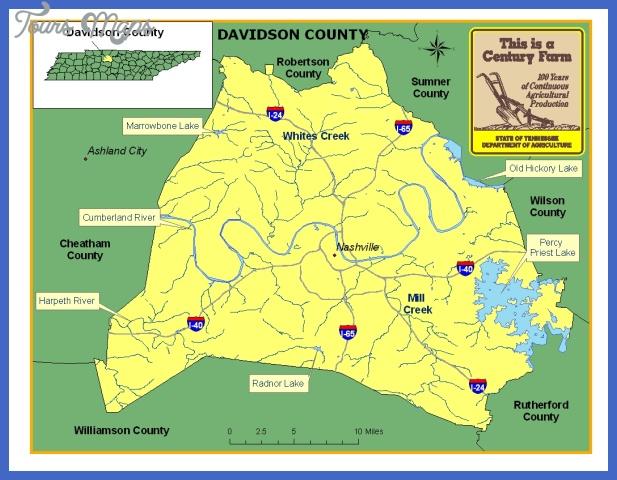 davidson Nashville Davidson Map Tourist Attractions