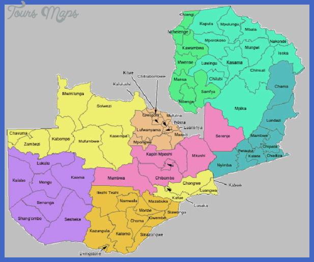 db zambia map district 011 Zambia Map