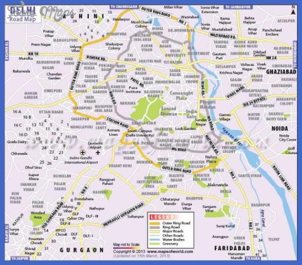 delhi map  1 Delhi Map