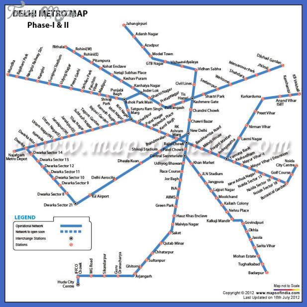 delhi metro map 3 Delhi Metro Map