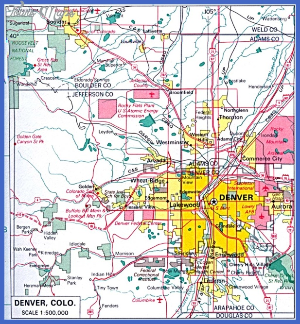 denver 1 Denver Map