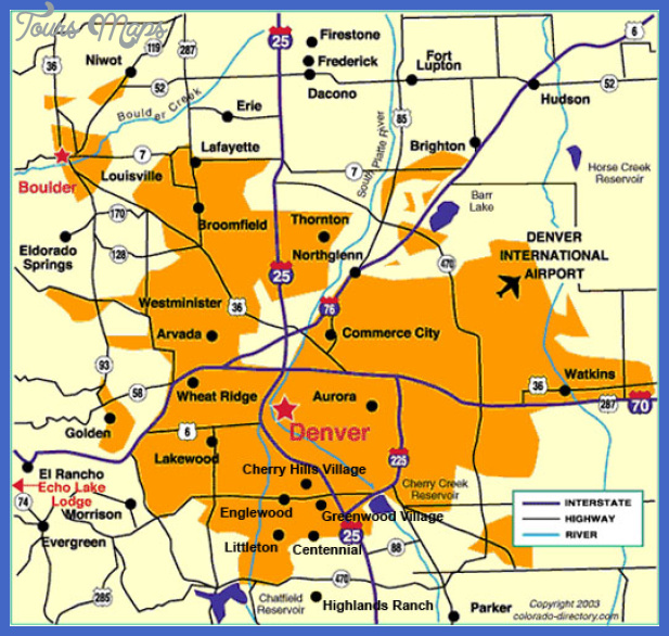 denver colorado map Denver Metro Map