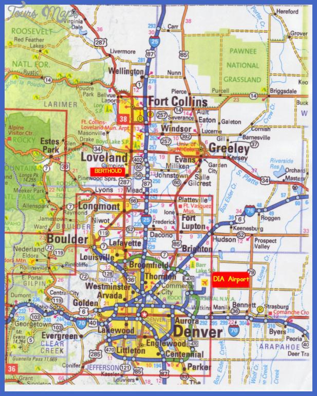 denver map  0 Denver Map