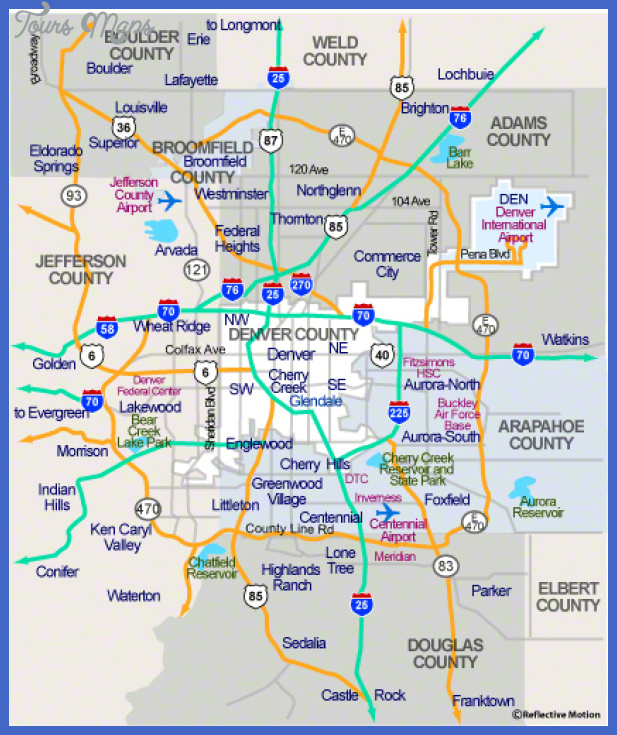 denver area d 1 Denver Metro Map