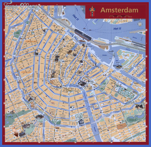 detailed tourist map of amsterdam Netherlands Map Tourist Attractions