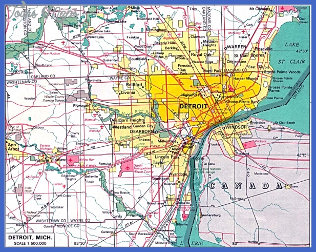 detroit city map Detroit Map
