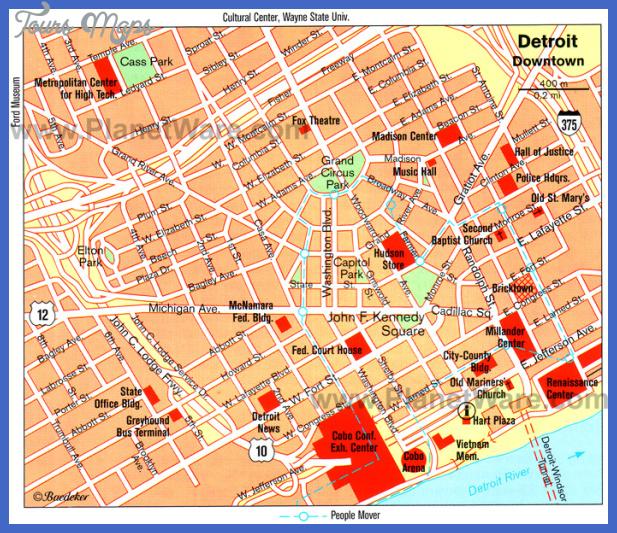 detroit map tourist attractions  0 Detroit Map Tourist Attractions