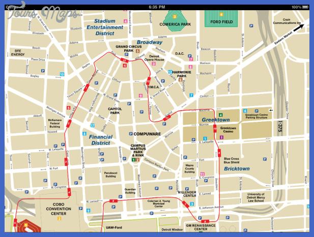 detroit map tourist attractions  1 Detroit Map Tourist Attractions