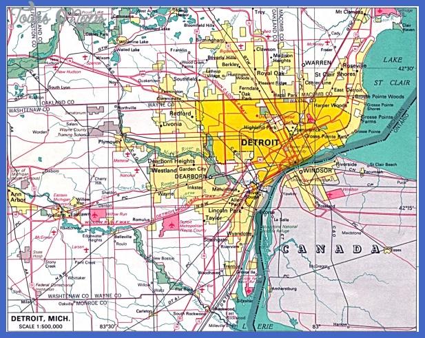 detroit Detroit Metro Map