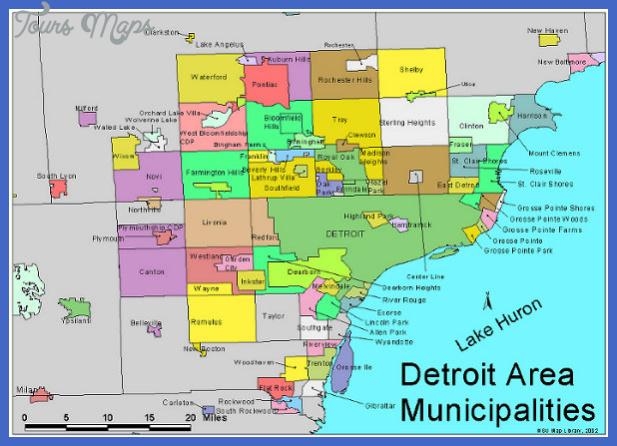 detroitmap1 Detroit Metro Map